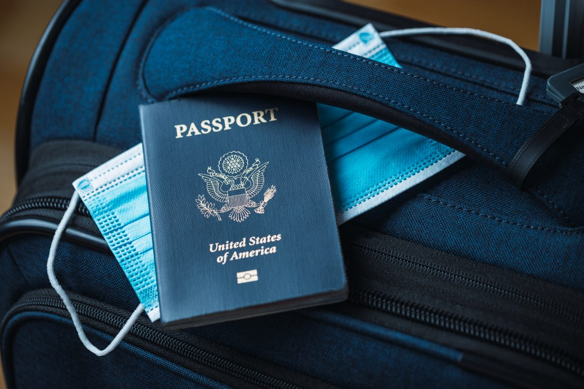 American Passport and luggage
